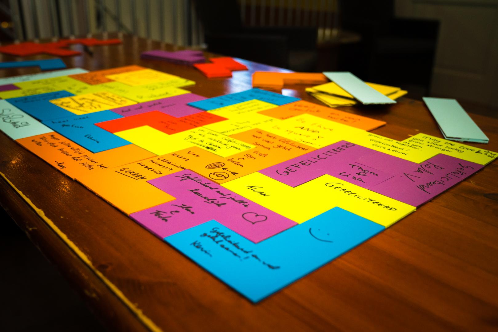 bruiloft Schijndel gastenboek tetris